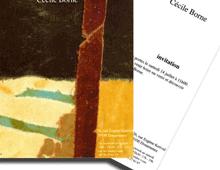 Carton d'invitation pour inauguration galerie d'art